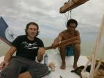 in barca ai caraibi