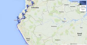 map Colombia-Ecuador