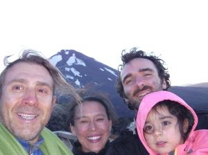 Matteo Pascal e famiglia al vulcano